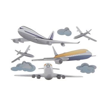 Adesivo La Petites 3D - Avião