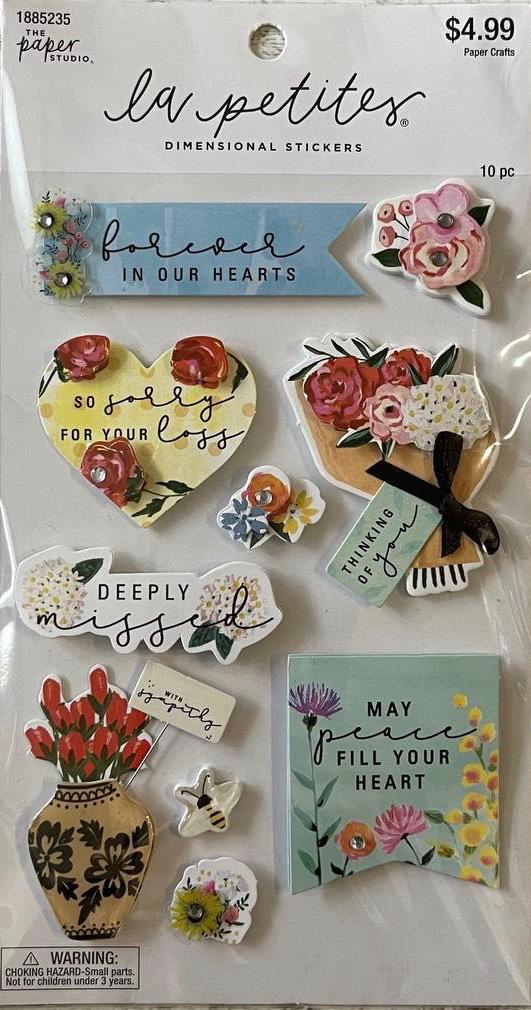 Adesivo La Petites - Forever in our Hearts- Dimensional stickers