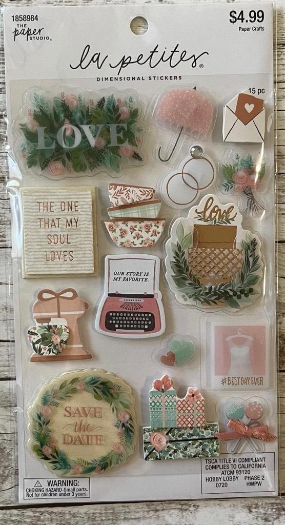 Adesivo La Petites - Love- Save the Date- Dimensional stickers