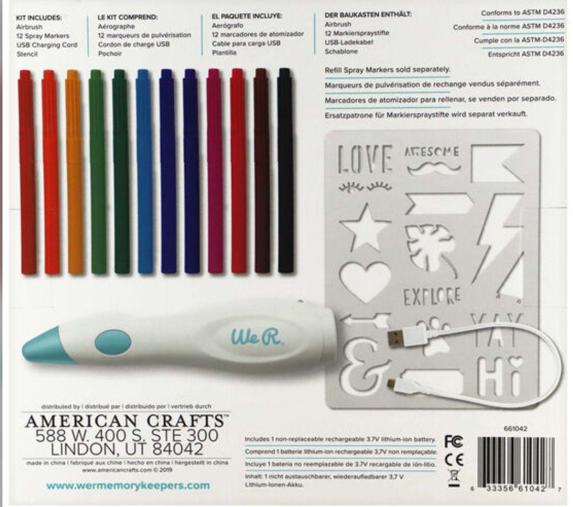 Air Brush We R Memory Keepers- Ferramanta de Soprar Tinta com Canetinhas