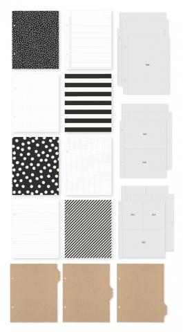 Álbum Snap Completo Simples Stories - 6x8 SN@P! Binder Black - Inclui Plásticos e Snapcards