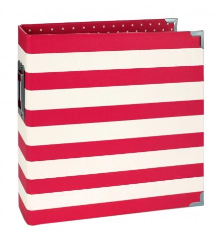 Álbum Snap  Simples Stories -   6x8 SN@P! Binder Red Stripes