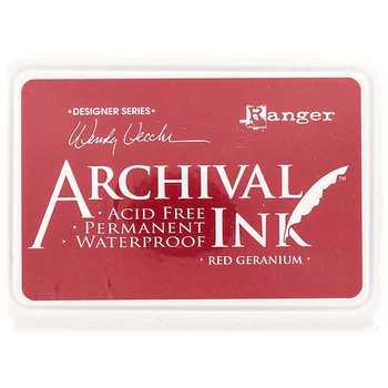 Carimbeira Archival Ink - Red Geranium