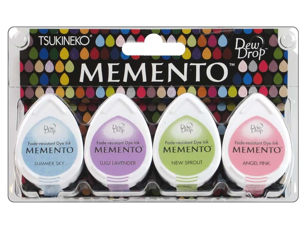 Carimbeira Memento Tsukineko Dew Drop Oh Baby! - Kit com 4 unidades - Azul, Lavanda, Verde e Rosa