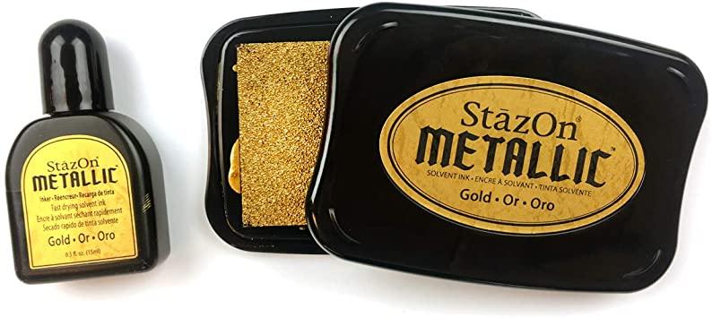Carimbeira StazOn Metallic Tsukineko - Gold
