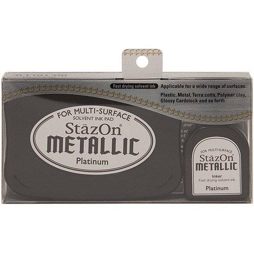 Carimbeira StazOn Metallic Tsukineko - Platinum