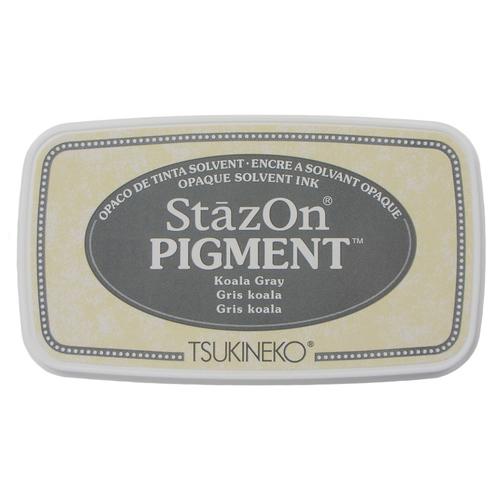 Carimbeira StazOn Pigment Tsukineko - Koala Gray - Cinza