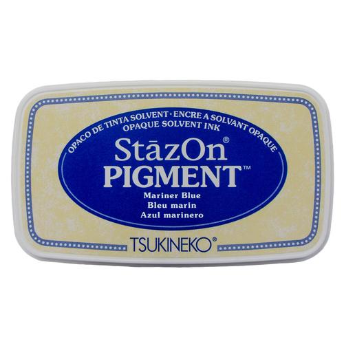 Carimbeira StazOn Pigment Tsukineko - Mariner Blue - Azul Marinho