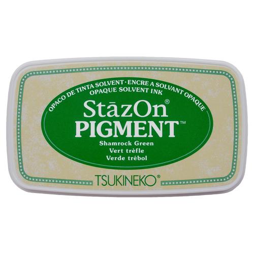 Carimbeira StazOn Pigment Tsukineko - Shamrock Green - Verde