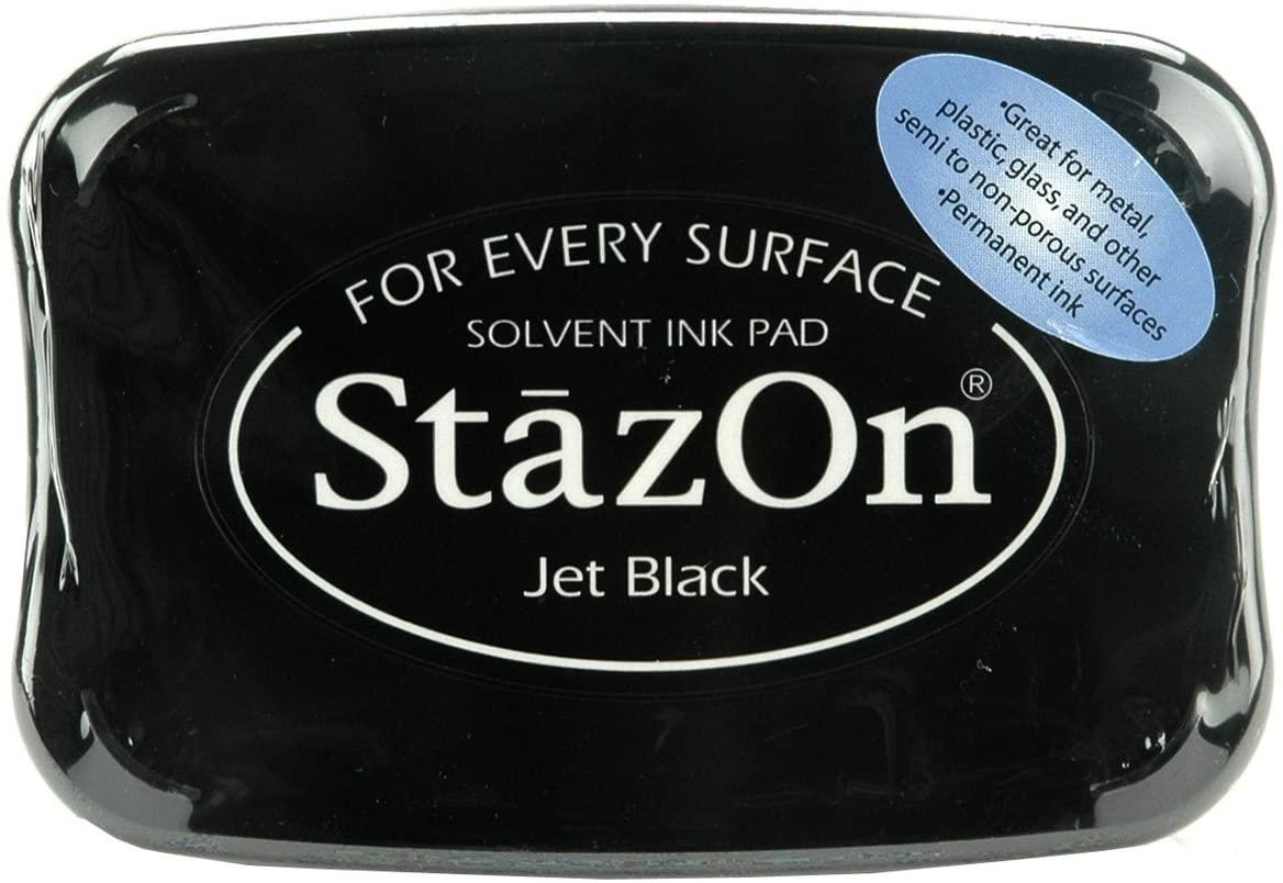 Carimbeira StazOn Tsukineko - Jet Black - Preta