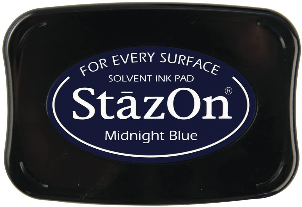 Carimbeira StazOn Tsukineko - Midnight Blue - Azul escuro