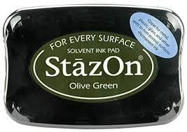 Carimbeira StazOn Tsukineko -Olive Green