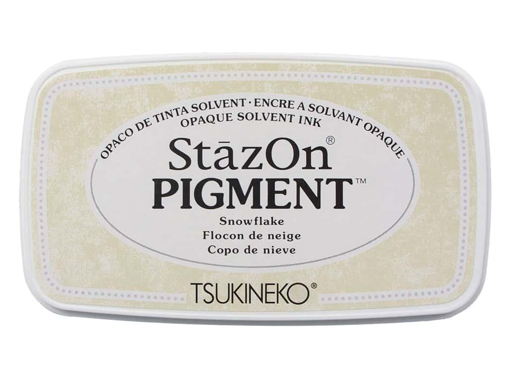 Carimbeira StazOn Pigment Tsukineko - Snowflake - Branca