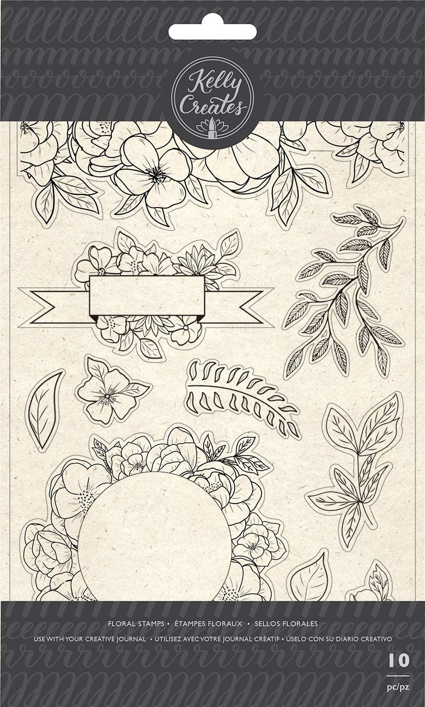 Carimbo Kelly Creates - Floral 10 peças