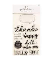 Carimbo Park Lane com Faquinha - Thanks-Happy