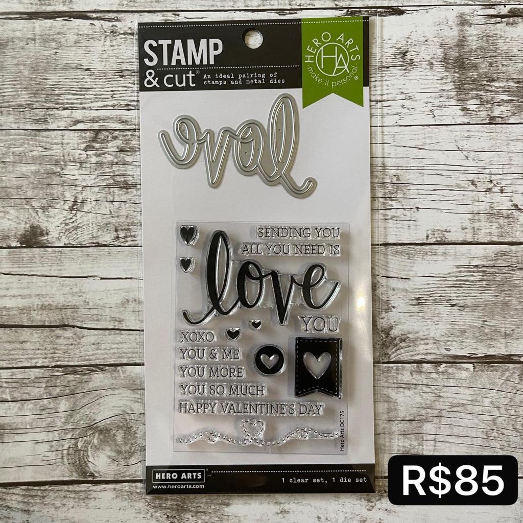 Carimbo  -Stamp & Cut com Faquinha- Love