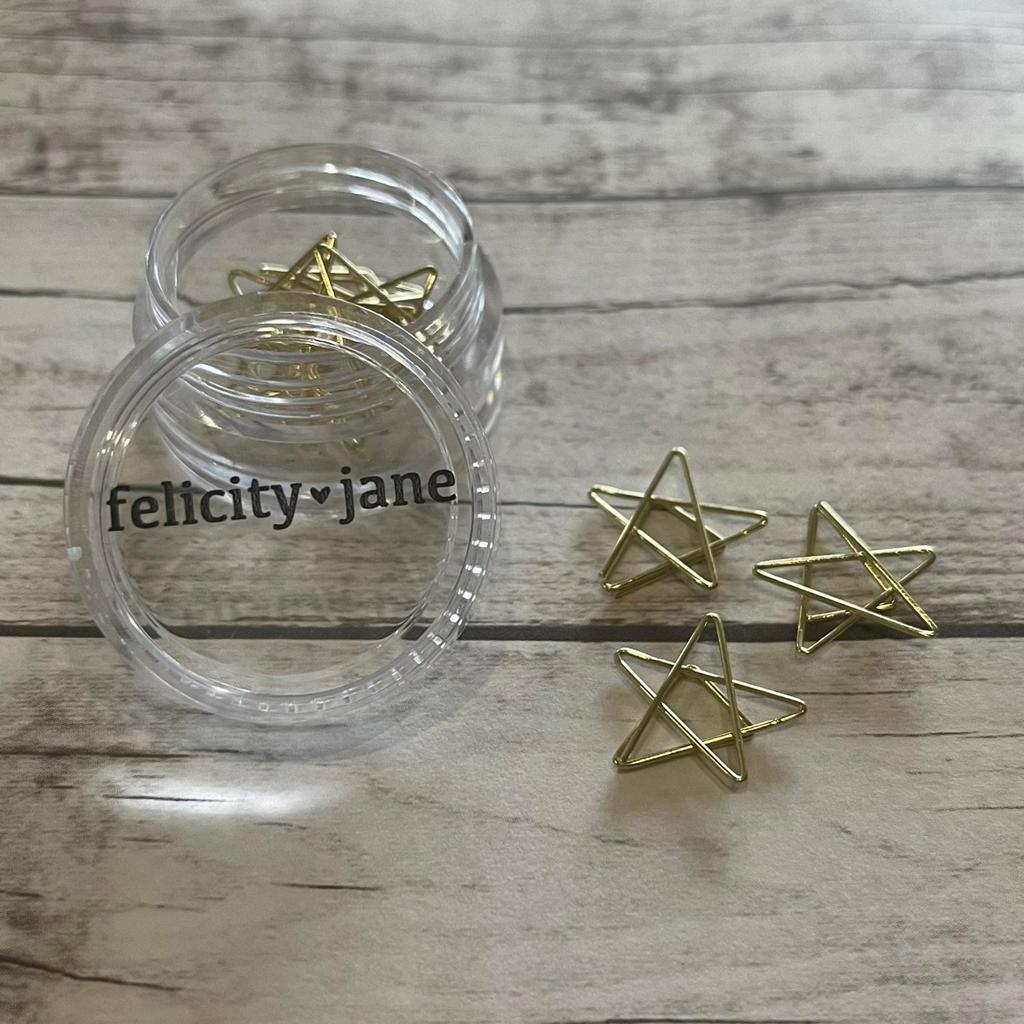 Clips- Felicity Jane Formato Estrela Gold