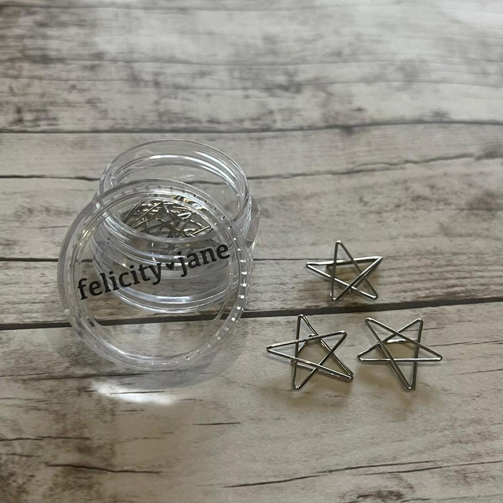 Clips- Felicity Jane Formato Estrela Prata