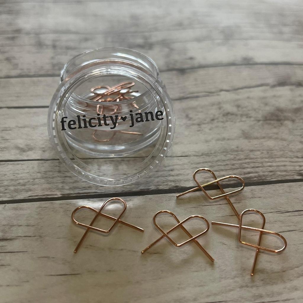 Clips- Felicity Jane Rose Gold-Formato de Coracao