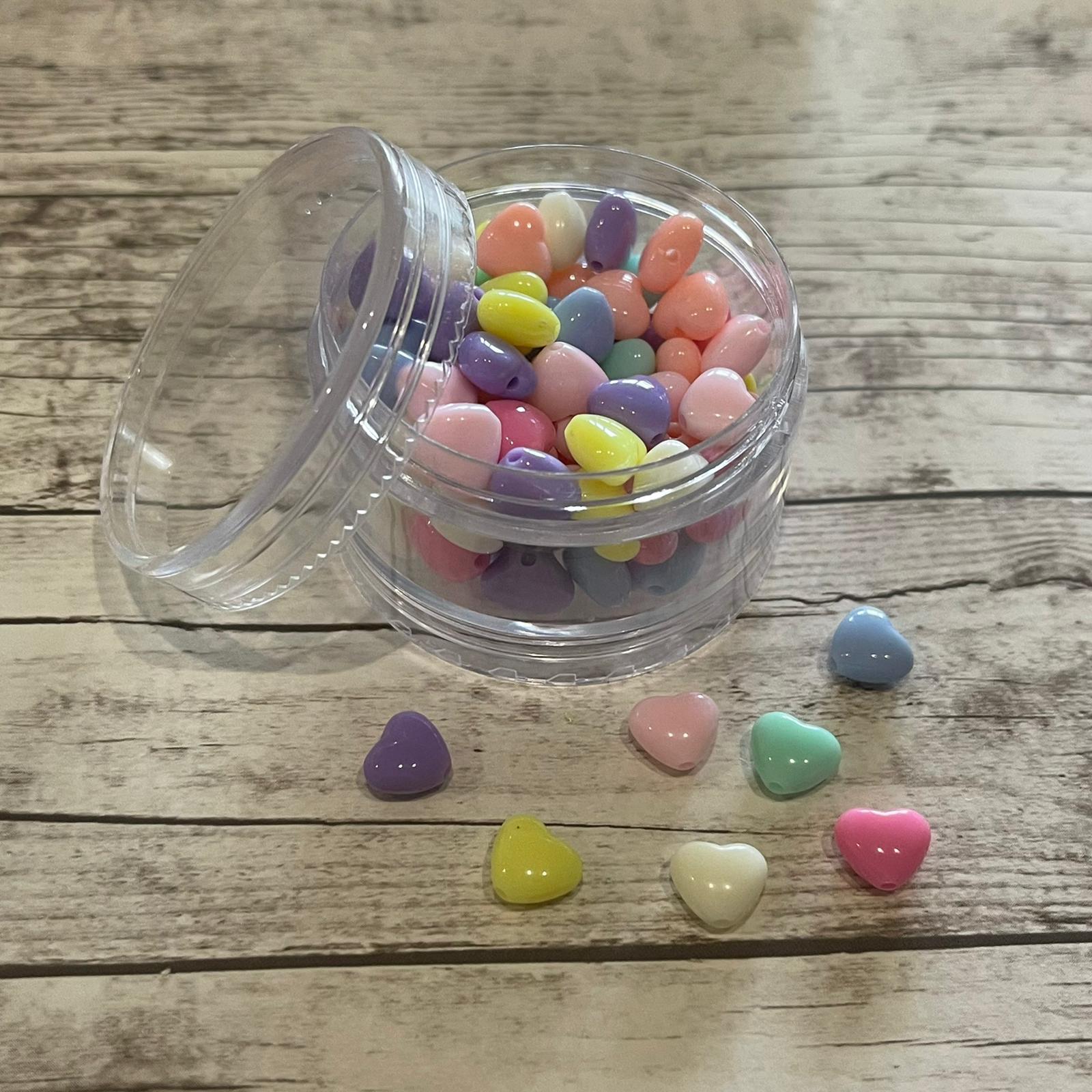 Corações Colorido Solido - 50 gramas