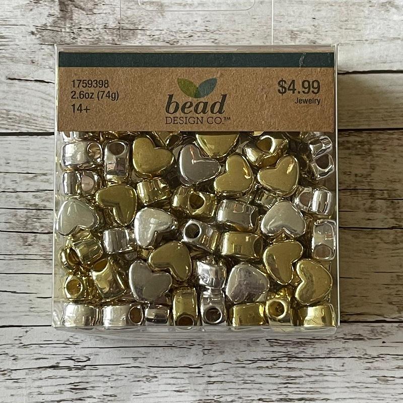 Corações Dourado e Prata - Importado