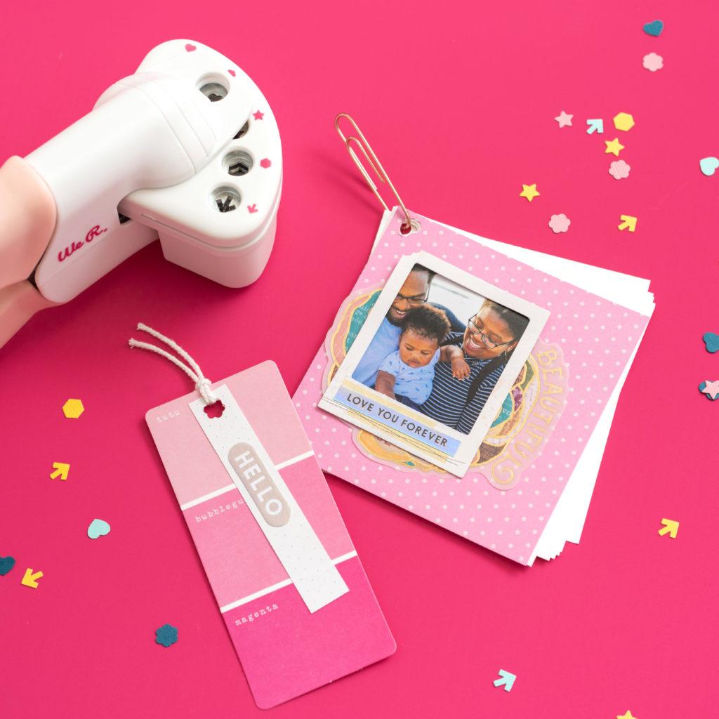 Crop a Dile Multi-Punch We R Memory Keepers - Rosa modelo com desenhos