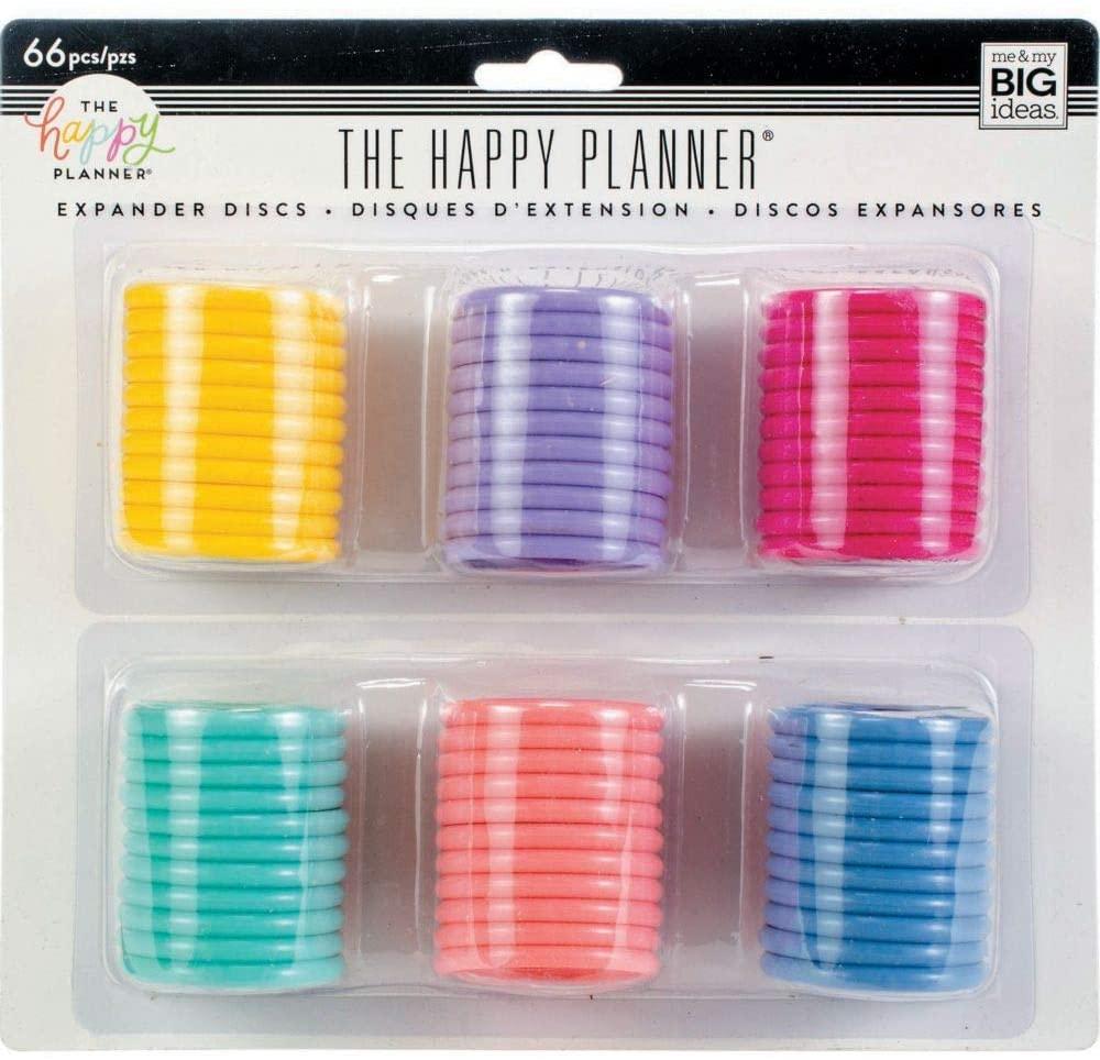 Discos Grande Coloridos  - The Happy Planner - 66 unidades