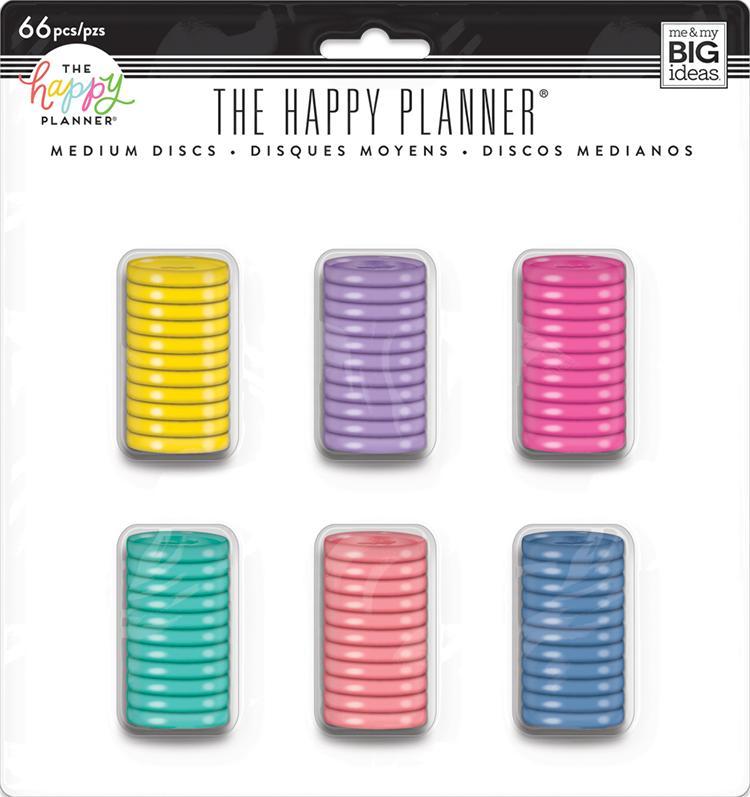 Discos Médio Coloridos  - The Happy Planner - 66 unidades