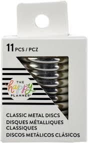 Discos Metálicos Médio Prata - The Happy Planner - 11 unidades