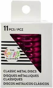 Discos Metálicos Medios Hot Pink - The Happy Planner - 11 unidades