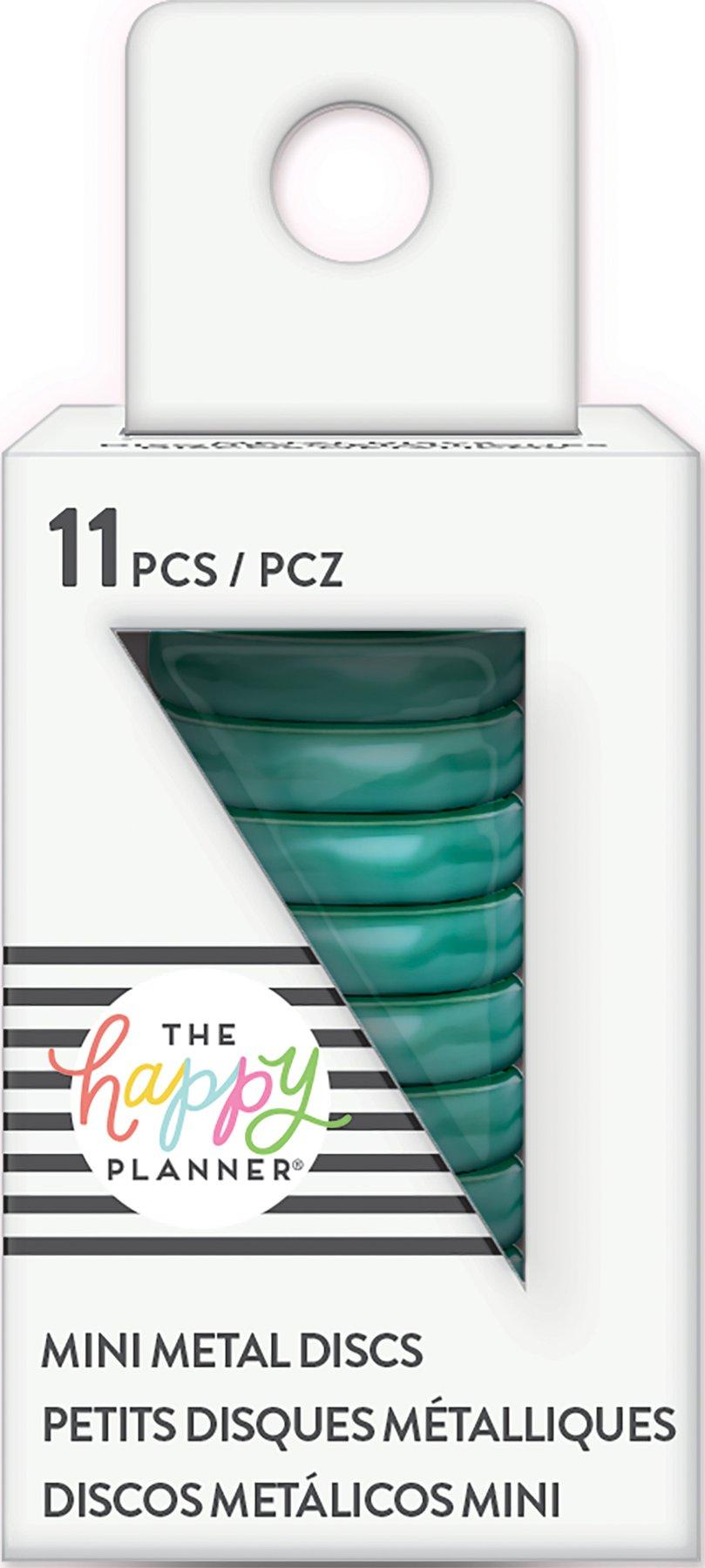 Discos Metálicos Pequenos Azul - The Happy Planner - 11 unidades