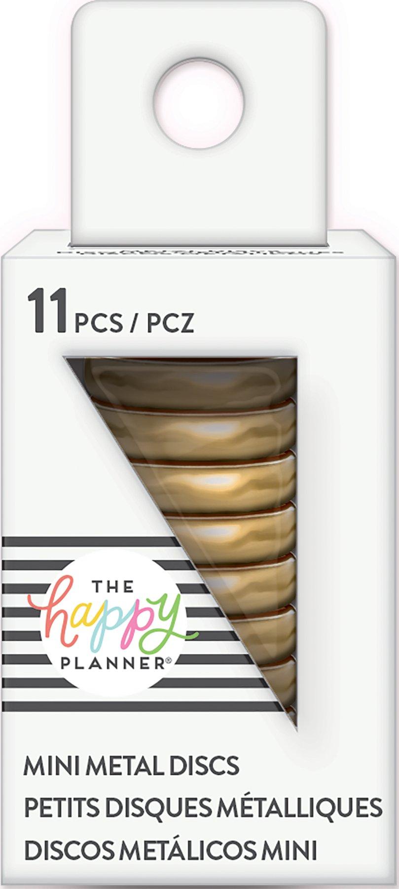 Discos Metálicos Pequenos Gold - The Happy Planner - 11 unidades