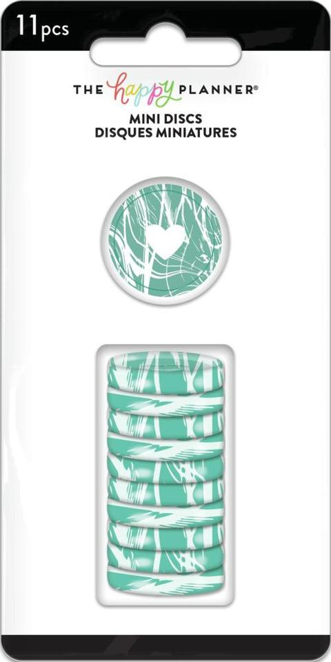 Discos Pequeno Verde Mesclado - The Happy Planner - 11unidades
