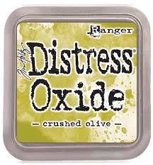 Distress Oxide - Tim Holtz - Crushed Olive (verde)