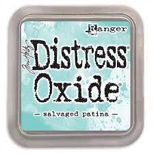 Distress Oxide - Tim Holtz - Salvaged Patina( verde )