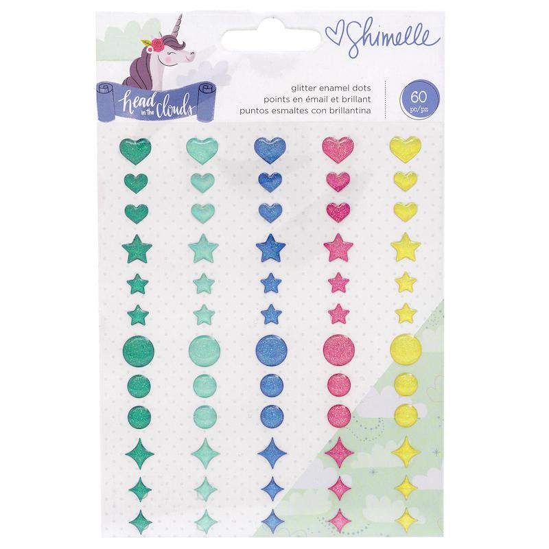 Dots Shimelle - Unicornios cors e desenhos com glitter