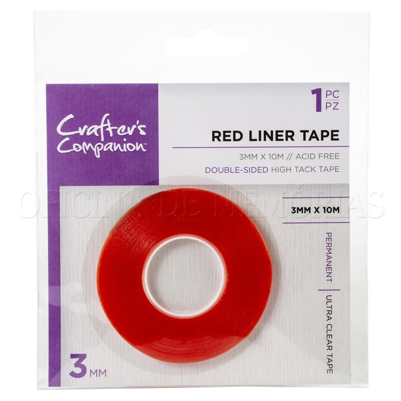DUPLA FACE- RED LINER TAPE-CRAFTERS COMPANION