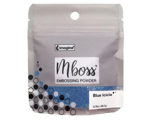 Embossing Powder - Mboss - Pó de Emboss Blue Icicle