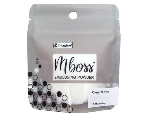 Embossing Powder - Mboss - Pó de Emboss Clear Matte