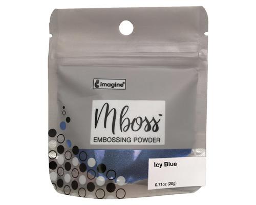 Embossing Powder - Mboss - Pó de Emboss Icy Blue