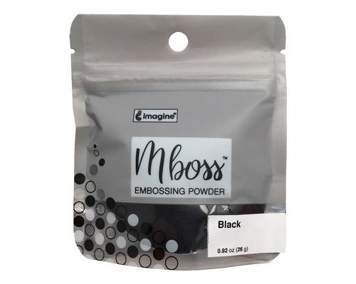 Embossing Powder - Mboss - Pó de Emboss Preto Sólido
