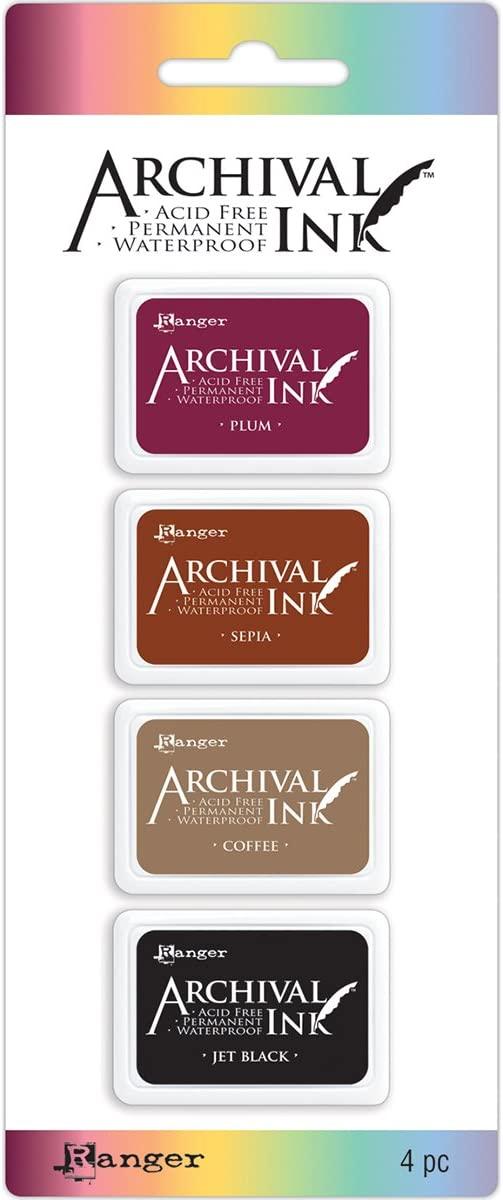 Mini Carimbeira Archival Ink Kit com 4 - AIMK57680