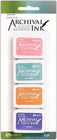 Mini Carimbeira Archival Ink Kit com 4 - AMDK58953