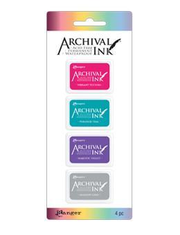 Mini Carimbeira Archival Ink Kit com 4 - AIMK57703