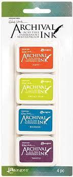 Mini Carimbeira Archival Ink - Wendy Vecchi - Kit com 4 - AMDK64077 - KIT 6
