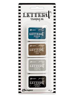 Mini Carimbeira Archival Ink Letter It - Kit com 4 - LEI59585