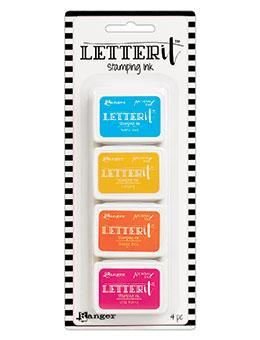 Mini Carimbeira Archival Ink Letter It - Kit com 4 - LEI62936