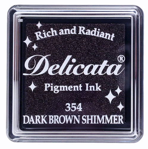 Mini Carimbeira Delicata - Dark Brown Shimmer - Marrom