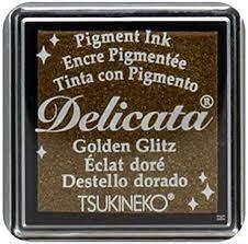 Mini Carimbeira Delicata -  Golden Glitz - Dourada - Gold
