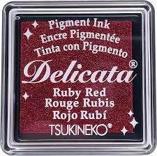 Mini Carimbeira Delicata -  Ruby Red